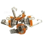 6.5mm / 6.35mm Female Single Channel Audio Sockets - Silver + Orange (4 PCS)