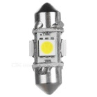 Festoon 31mm 1W LED Car Lamps White Light 5734K 35lm 4-SMD 5050 (4PCS)