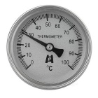 Stainless Steel Bimetal Thermometer (0~100'C)