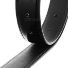 Fashion Women's Engraving Pin Buckle PU Belt - Black