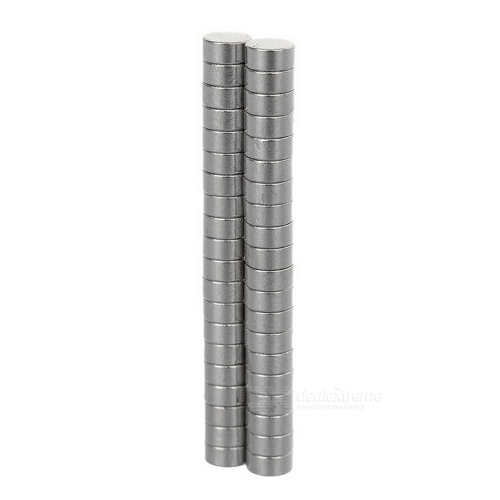 4*2mm Round NdFeB Magnet - Silver (40PCS)