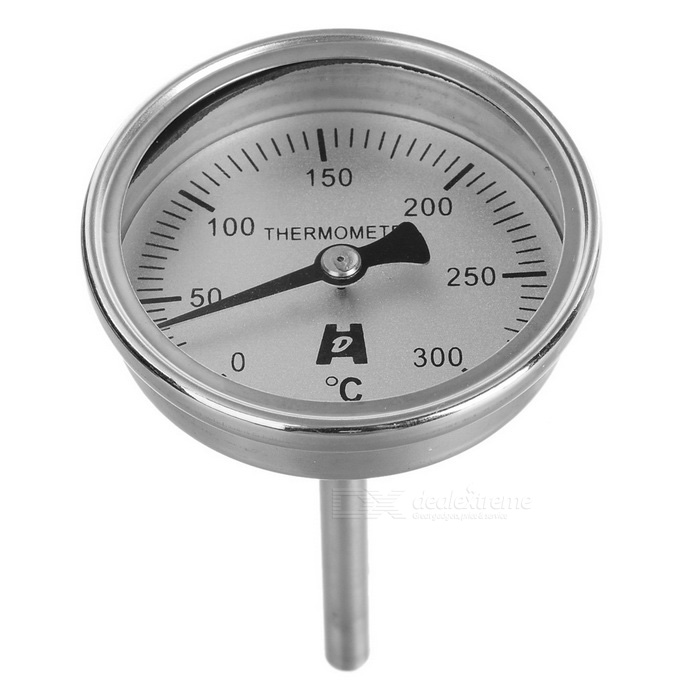 Stainless Steel Bimetal Temperature Meter Thermometer (0~300'C)