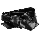Women's Super Wide PU Waist Belt - Black (220cm)