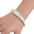 Women's Fashion Irregular Silver Plated Bracelet Bangle - Silver
