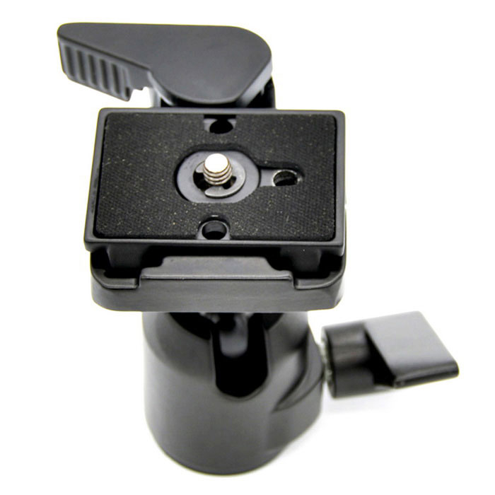 360' Rotating Camera Tripod Monopod Ball Head Quick Release Plate