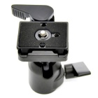 360 Degrees Rotating Camera Camcorder Tripod Monopod Ball Head Quick Release Plate - Black