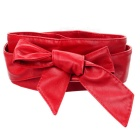 Women's Super Wide PU Waist Belt - Red (220cm)
