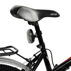 3-Mode Multi-color Bike Laser Tail Light - White + Black