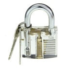 Slotted Practice Padlock + Padlock Shims Set - Transparent + Silver