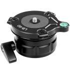 Leveling Base w/ Offset Bubble Level for DSLR Camera - Black