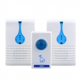 32-Melody Wireless R/C Transmitter + Receivers Doorbell Set - White
