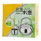 Camping Stainless Steel Tea Pot Kettle w/ Strainer Filter - Golden