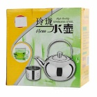 Camping Stainless Steel Tea Pot Kettle w/ Strainer Filter - Silver