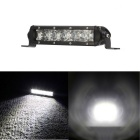 30W Spot 6-XTE LED Single Row Car Work Light / Headlight Bar Spot 2550lm 6000K (DC 9~32V)