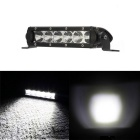30W Flood 6-XTE LED Single Row Car Work Light / Headlight Bar Spot 2550lm 6000K (DC 10~30V)