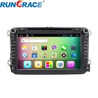 "Rungrace 8"" 2-Din Android TFT Screen In-Dash Car DVD Player for Volkswagen w/ IPOD, Wi-F, DVB-T"
