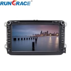 "Rungrace RL-521WGDR02 8"" 2-Din TFT Screen In-Dash Car DVD Player for Volkswagen w/ GPS, RDS, DVB-T"