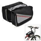 INBIKE IB219 Outdoor Cycling Oxford Bike Top Tube Double Saddle Bag - Black + Grey