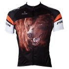 Paladinsport Men's Bear Style Cycling Short Jersey Top Shirt - Black + Multicolor (L)