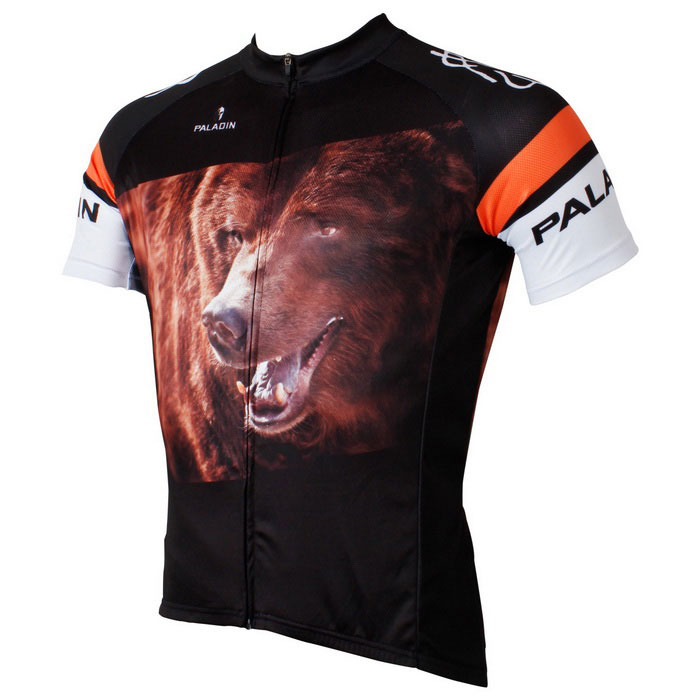 Paladinsport Men's Bear Style Short Jersey Top Shirt - Black (XXL)