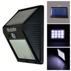 Triangle Shaped 0.65W 12-LED Solar PIR Motion Sensor Light White 160lm 6500K 3528 SMD