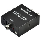CHEERLINK Digital to Analog Toslink Coaxial to L/R Audio Converter w/ USB 2.0 Cable - Black