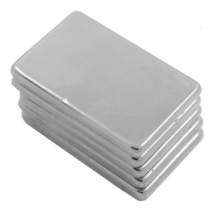 30mm*20mm*3mm Rectangle Super Strong NdFeB Magnet - Silver (5PCS)