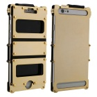 ARMOR KING Sports Protective Aluminum Alloy Full Body Case w/ Dual Window for IPHONE 6 PLUS - Golden