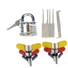 Slotted Practice Padlock + Padlock Shims + 5-in-1 Single Hook Lock Picks Set