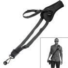 Neck Shoulder Camera Strap Single Shoulder Sling Belt Strap for SLR DSLR Canon Nikon - Black