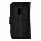 Lychee Pattern Case w/ Stand / Card Slots for Nokia Lumia 620 - Black