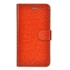 Protective Flip-Open PU Leather Case w/ Stand / Card Slot for IPHONE 6 PLUS - Brown
