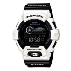 Genuine Casio G-Lide GWX-8900B-7DR Tide and Moon Phase Graph with two-tone LCD Watch - Black & White