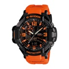 Genuine Casio GravityMaster GA-1000-4ACR Watch w/ Digital Compass, Bearing Memory - Black + Orange