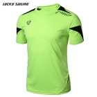 Lucky Sailing LS06 Men's Quick-Dry Short-Sleeved T-Shirt - Light Green (L)