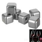 Reusable Stainless Steel Wine Whiskey Drink Chiller Stones Rocks / Ice Cubes – Silver (Square, 6PCS)