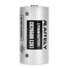 AITELY 3V Lithium CR26500 Battery - White + Black