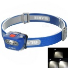 GLAREE XT-E R4 LED White + Red + Yellow Light 5-Mode Headlamp (3*AAA)
