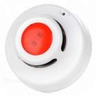 Portable Smoke Alarm Detector w/ Sound / Flash / LED Indicating Alarm - White + Red