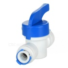"1/4"" Water Purifier Dispenser Adapter Valve Switch - White + Blue"