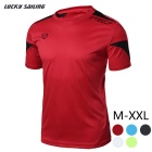 Lucky Sailing LS06 Men's Quick-Dry Short-Sleeved T-Shirt - Red (XL)