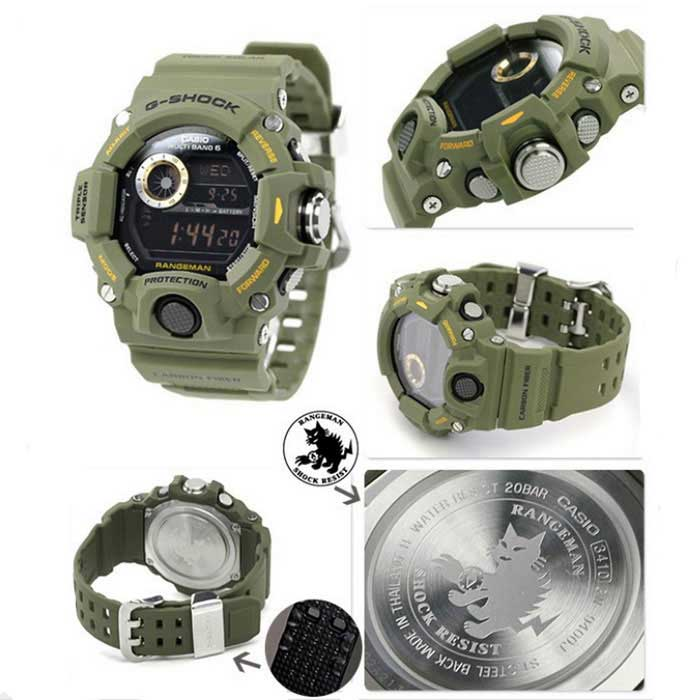 Genuine Casio G Shock Rangeman Gw 9400 3cr Triple Sensor