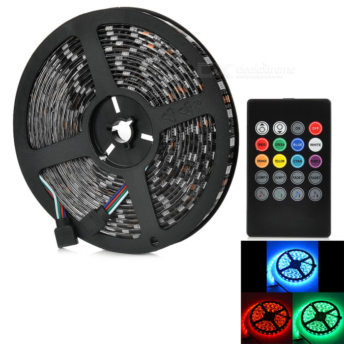 JRLED Vattentät 60W LED-ljus Strip RGB SMD w / Music Controller (5m)