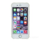 Matte ABS Back Case w/ Stand for IPHONE 6 - White + Translucent White