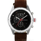 CURREN 8154 Men's Fashion PU Band Quartz Analog Wrist Watch - Brown + Silver (1 x 626)