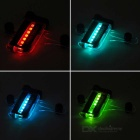 32-Pattern 14-LED Colorful Light Bicycle Wheel Decoration Lamp - Black