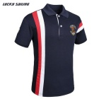 Lucky Sailing CSL03P Men's Short-Sleeved Polo Shirt - Blue (L)