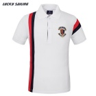 Lucky Sailing CSL03P Men's Quick-Dry Short-Sleeved Polo Shirt T-Shirt - White (L)