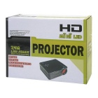 Mini LED HD projetor w / hdmi, vga, sd, USB2.0, AV - preto (eu plug)