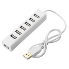 Mini 7-poort USB 2.0 HUB - Wit
